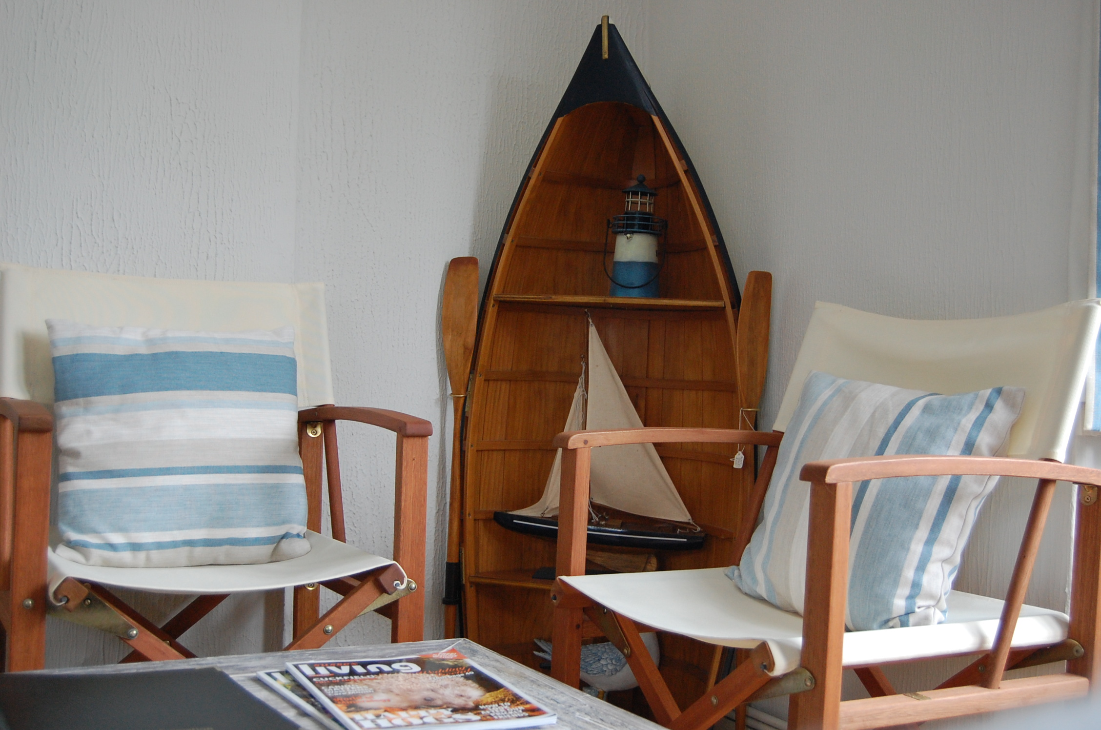 Relaxed seating area with nautical theme - Springwells Guest House Steyning
